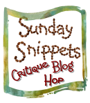 sunday_snippets critique blog hop image