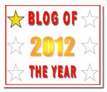 blog of 2012 award